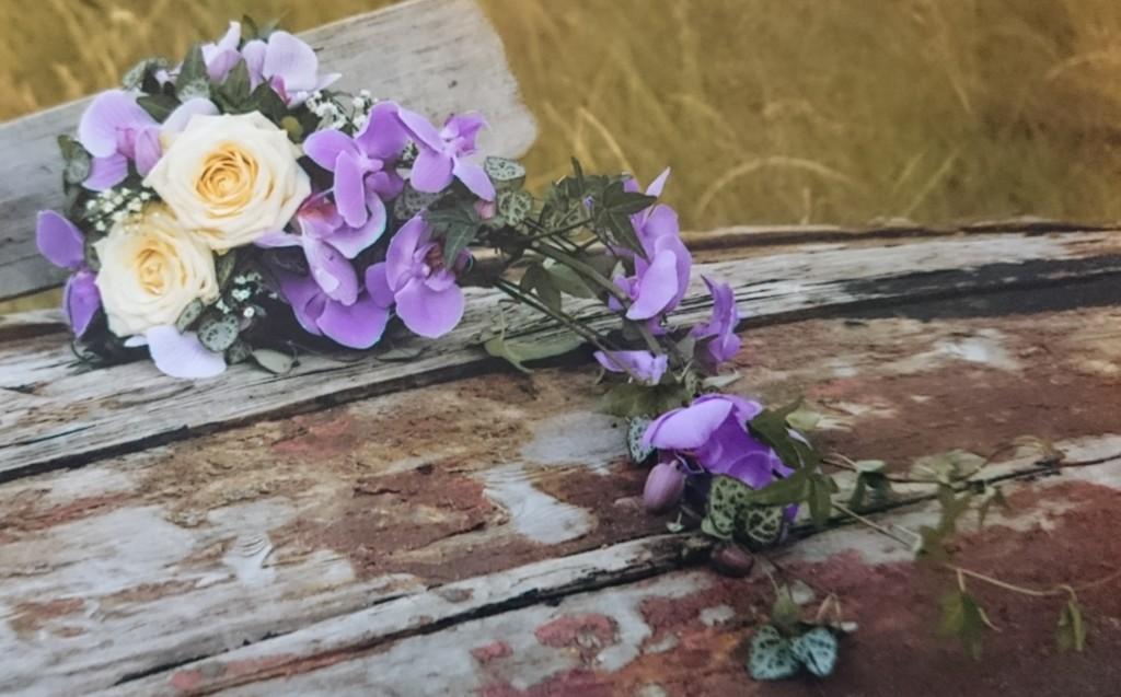 Brudebukett med orkidéar